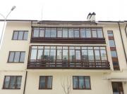 "Монтаж балкона в жилом комплексе. Односторонняя ламинация окна ""Steko"""